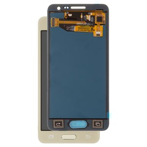 LCD compatible with Samsung A300 Galaxy A3, (golden, with touchscreen, without adjustment of light, (TFT), Copy)