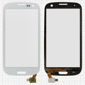 Touchscreen compatible with China-Samsung I9300, S3, (capacitive, white, (133*68mm), (105*59mm)) #TP3004/MD-CTP010-B1