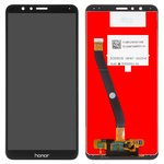 LCD compatible with Huawei Honor 7X, (black, with touchscreen, Original (PRC), BND-L21)