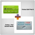 Renovación de acceso al servidor Furious Gold por 1 año  + Furious Gold Pack 6