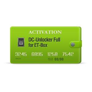 Activación DC-Unlocker Full para ET-Box