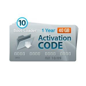 Активационный код Boot-Loader v2.0 (1 год, 10+2 кодов x 40+5 ГБ)
