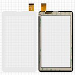 "Сенсорный экран для Bravis NB751 3G; Nomi A07005 Astra 4GB, C07000 7"" 3G 8Gb, C07005 Cosmo 7'' 8Gb 3G, C07007 Polo, C07008 Sigma, C07009 Alma 7"" 3G; EvroMedia Play Pad 3G DUO; Uni Pad DR-UDM04A13QC; Mystery MID-713G; Roverpad 6.8"", 7"", 184 мм, 104 мм, 30 pin, тип 1, емкостный, без датчика приближения, белый, #HS1275 V106/FM707101KD/370-A/YLD-CEG7069-FPC-AO/MDJ M706 FPC/FHF070076-B/YDT1273-A1/QCY 706 J/XHS0700401B/P031FN10869A"