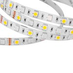 Светодиодная лента RGB+WW SMD5050 (300 светодиодов, 12 В, 5 м, IP20)
