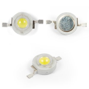 LED 1 W (cold white, 6000-6500 K, 130 lm, 3.2-3.4 V)