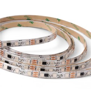 RGB LED Strip SMD5050, WS2811 (white, with controls, IP65, 12 V, 60 LEDs/m, 5 m)
